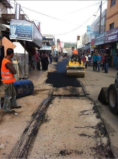 صيانة الطرق ومعالجة وترقيع للطرق الداخلية والرئيسية