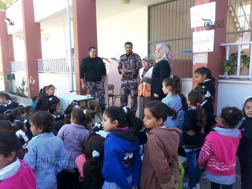 يوم تطوعي لذوي الإحتياجات الخاصة في مدرسة بنات برطعة الاساسية .