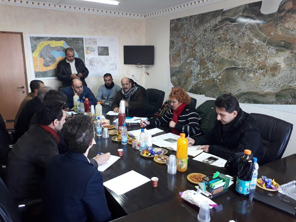 زيارة وفد من صندوق البلديات والمانحين الاوروبين لبلدية برطعة .