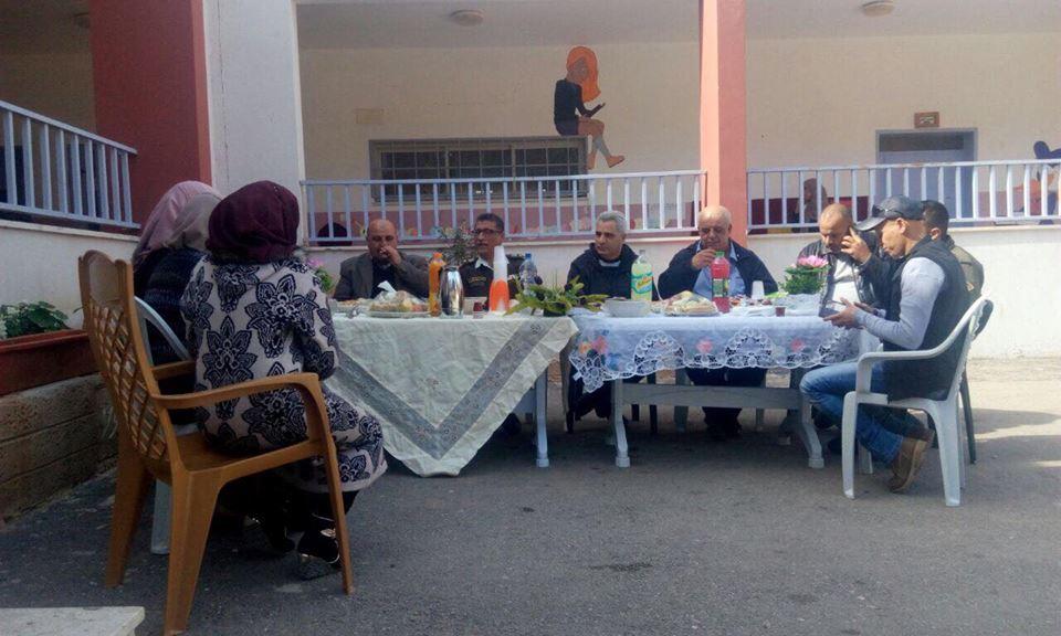 وفد من الارتباط العسكري الفلسطيني يزور بلدية برطعة.