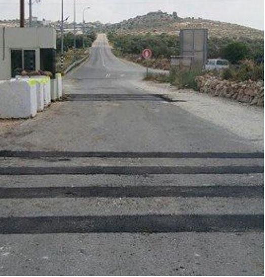 الموافقة على تعبيد الحفر التي قام بها الاحتلال على حاجز دوتان (( يعبد )).