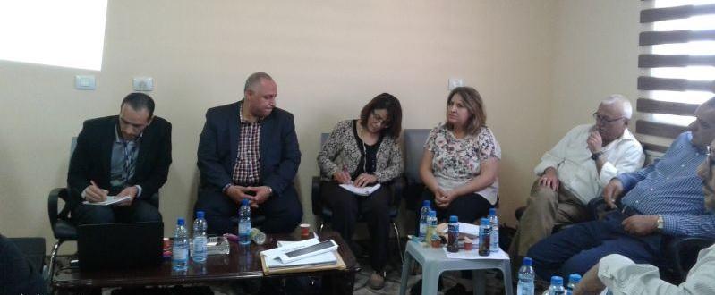 وكالة الغوث (( الانروا )) وبالتعاون مع بلدية برطعة تبحثان احتياجات البلدة .